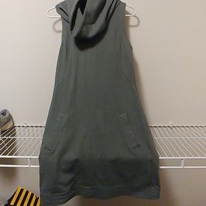 Cute grey dress with mini scarf on neck!